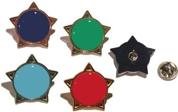 Plain colour star badge